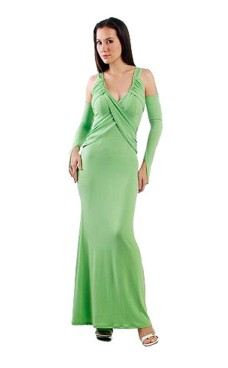 Alluring Green Dress Long Dresses