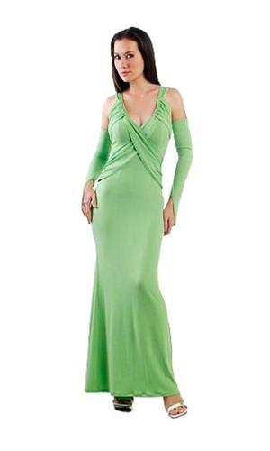 Alluring Green Dress Long Dresses