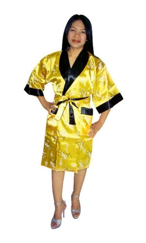 Asian Silk Robe Unisex Kimonos