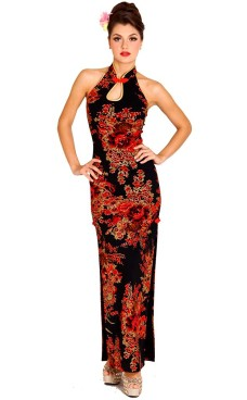 Beautiful Black Cheongsam