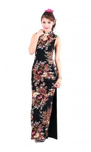 Beautiful Black Cheongsam Asian Dresses
