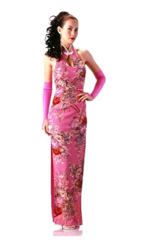Beautiful Pink Cheongsam Asian Dresses