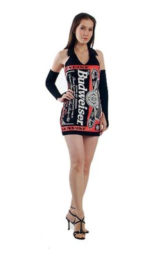 Black Budweiser Dress Short Dresses