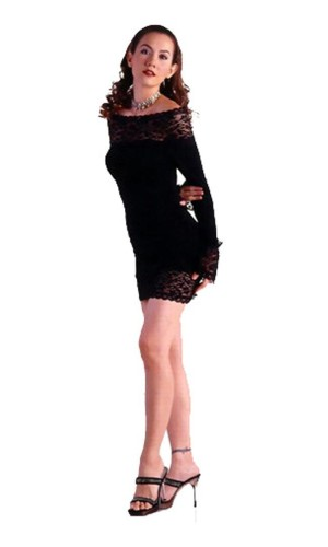 Black Long Sleeved Dress Short Dresses
