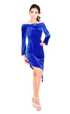 Blue Cocktail Dress Short Dresses