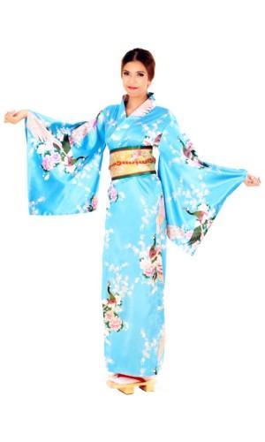 Blue Yukata Dress Kimono Dresses