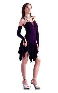 Chic Purple Dress Short Dresses