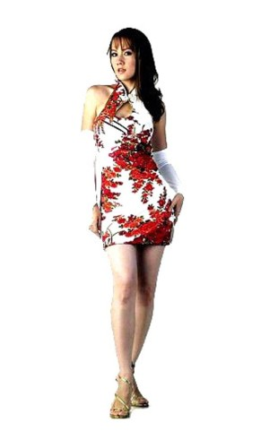Chic Short White Cheongsam Asian Dresses