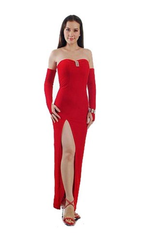 Chic Strapless Red Dress Long Dresses