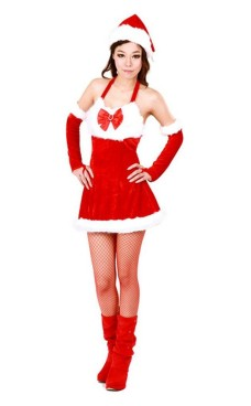 Christmas Santa Girl Costume Christmas Dresses