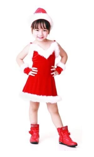Cutie Children's Santa Dress Children's Christmas Costumes