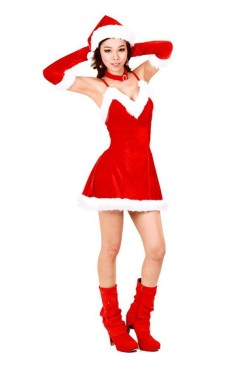 Cutie Santa Dress Christmas Dresses