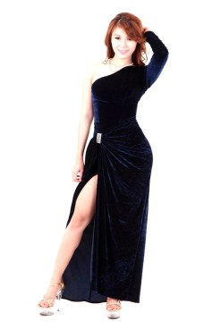 Dark Blue Evening Dress Long Dresses