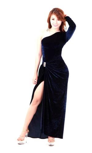 Dark Blue Evening Dress Long Dresses