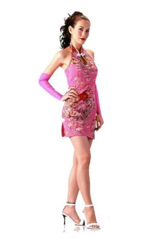 Delicate Short Pink Cheongsam Asian Dresses