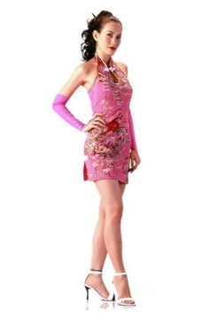 Delicate Short Pink Cheongsam Asian Dresses