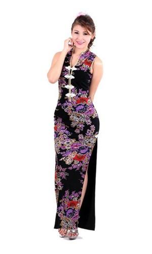 Elegant Black Asian Gown Asian Dresses