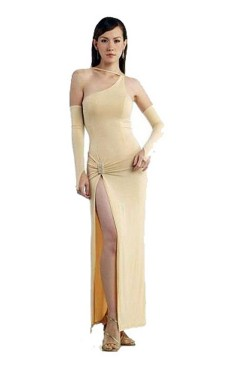 Elegant Cream Evening Dress