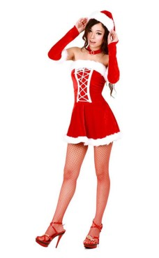 Elegant Santa Dress Christmas Dresses