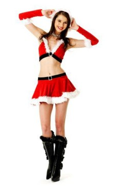 Elegant Santa Skirt Set Christmas Dresses
