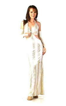 Fashionable Gold Dress Long Dresses