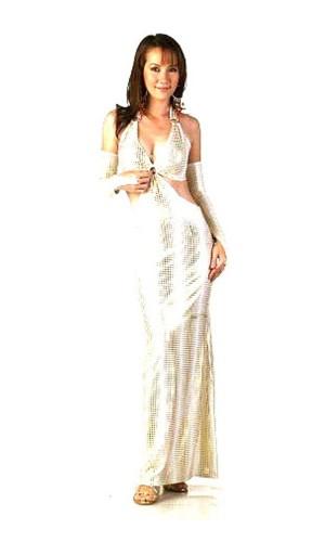 Fashionable Gold Dress Long Dresses