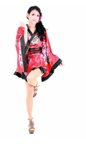 Floral Motif Kimono Kimono Dresses