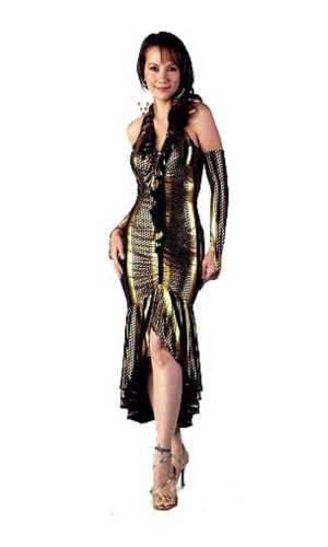 Glamorous Gold Dress Long Dresses