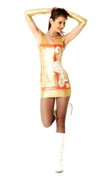 Gold Budweiser Dress Short Dresses