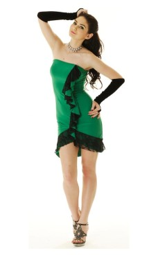 Green Salsa Dress Short Dresses