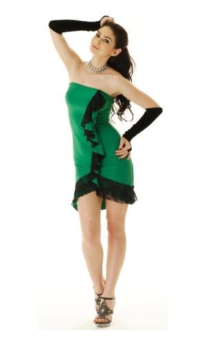 Green Salsa Dress Short Dresses