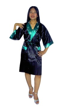 Green Silk Robe Unisex Kimonos