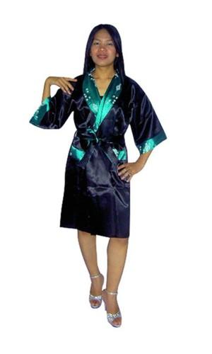 Green Silk Robe Unisex Kimonos
