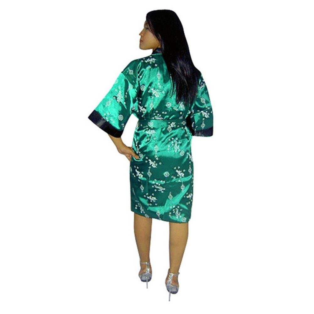 Green Silk Robe - Unisex Kimonos