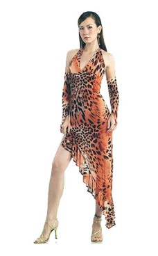 Hot Leopard Dancedress Long Dresses