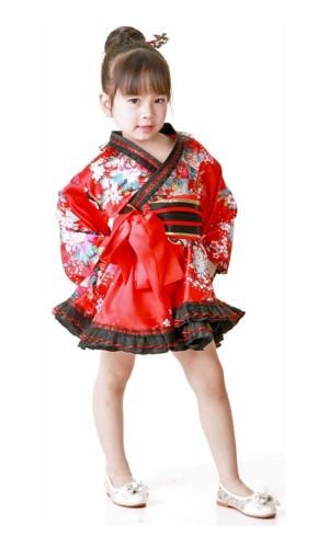 Kids Floral Motif Kimono Children's Kimono Dresses