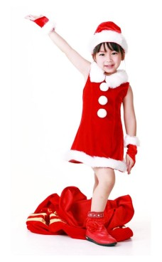 Kids Santa Dress Children's Christmas Costumes