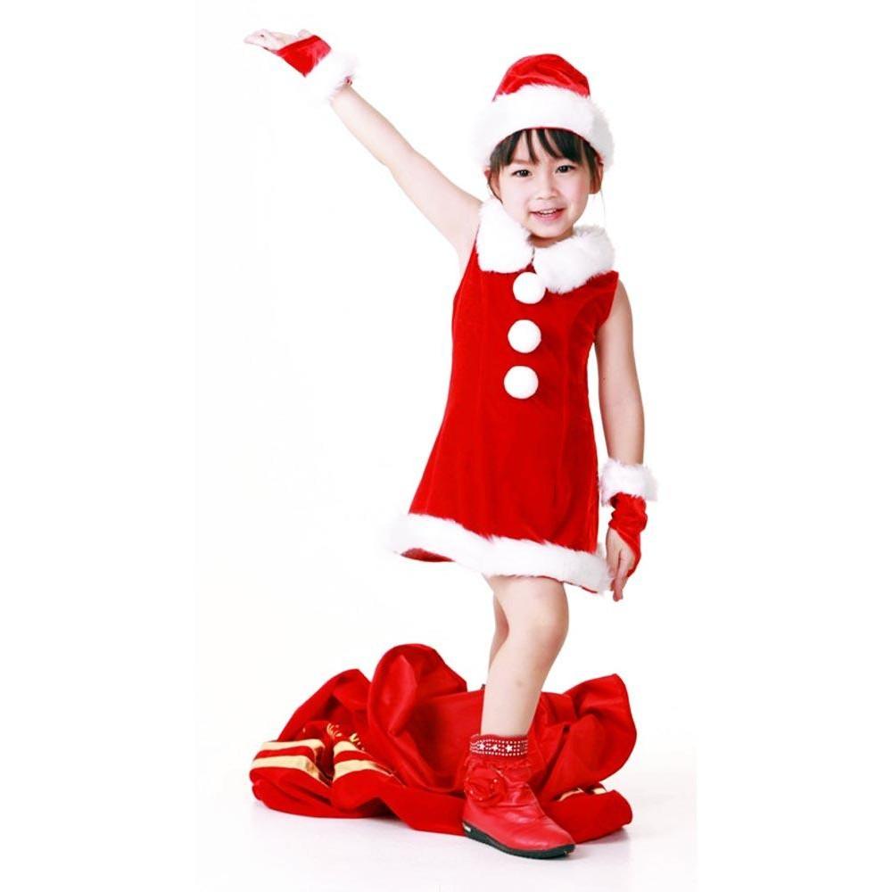 kids santa dress childrens christmas costumes - Kids Santa