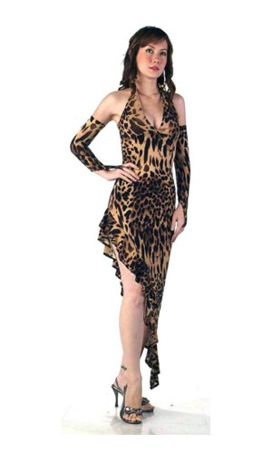 Leopard Salsa Dress Long Dresses