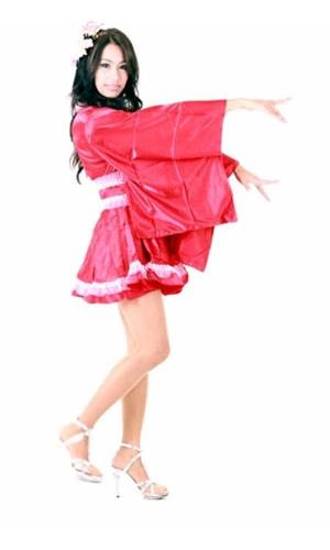 Long T-sleeve Red Kimono Kimono Dresses