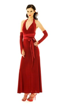 Luxurious Red Evening Dress Long Dresses