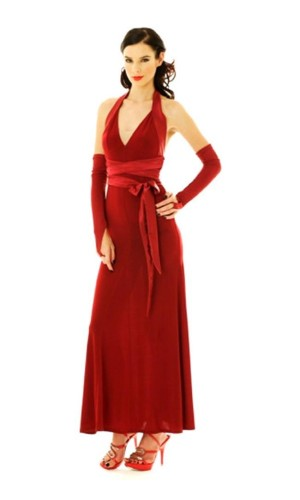 Luxurious Red Evening Dress Long Dresses