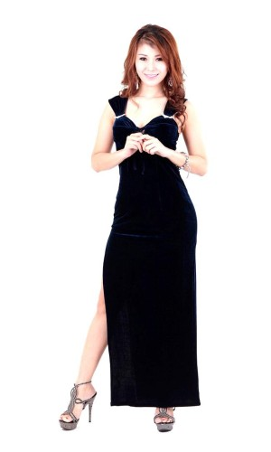 Magnificent Midnight Black Dress Long Dresses