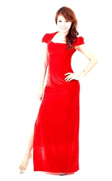 Magnificent Red Evening Dress Long Dresses