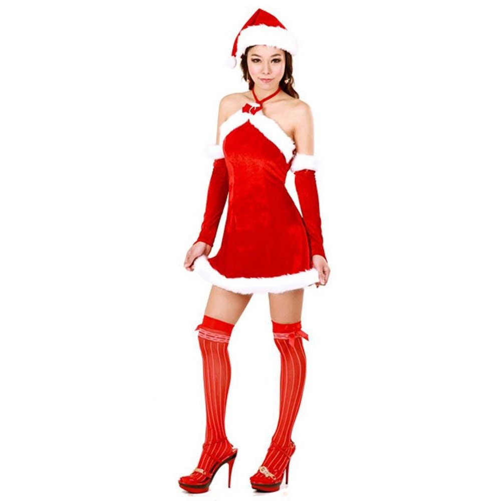 Naughty santa dress naughty santa dress in red with white marabou trim