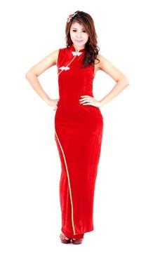 Oriental Velvet Gown