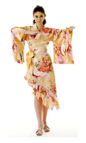 Peach Yukata Dress Kimono Dresses