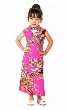 Pink Children's Cheongsam Children's Oriental Dresses