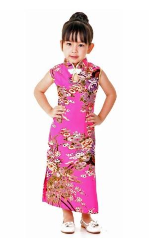 Pink Children's Cheongsam Children's Oriental Dresses