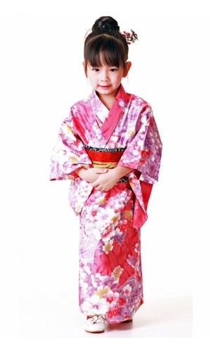 Pink Kimono Children's Dress Children's Kimono Dresses